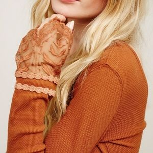 Free People Tops - Free People Lace Cuff Copper Thermal Top